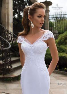 Wedding Dresses Lace - New ideas Wrap Wedding Dress, Wedding Dress Sleeves, Dream Wedding Dresses, Bridal Dresses, Wedding Gowns, Lace Dresses, Wrap Dress, Civil Wedding, Lace Wedding