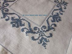 This Pin was discovered by Tur Hardanger Embroidery, Cross Stitch Embroidery, Hand Embroidery, Bargello Needlepoint, White Crosses, Embroidery For Beginners, Cross Stitch Designs, Bohemian Rug, Needlework