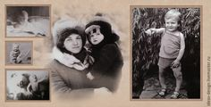 Купить Дизайн фотокниг со старыми фотографиями - фотокнига, ретро, старые фото, обработка фото