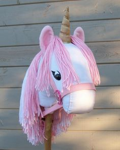 Stick Unicorn Pink Ready to Ride MADE TO ORDER by RusticHorseShoe