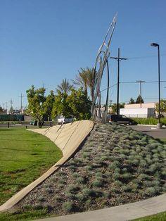 SQLA Inc. // Mercury Arts Center Commercial Landscape Design, Mercury, Sidewalk, Art, Shopping Malls, Art Background, Side Walkway, Kunst, Walkway