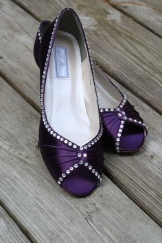 Purple Wedding Shoes Wedge Low heel -- 1 inch wedge shoes 37a20af67857