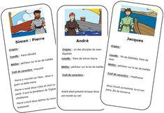 Joli partage d'une lectrice du blog: Suzanne. Elle a réalisé un jeu de 12 cartes d'identités:  1 pour chaque disciple. Elle a utilisé ces cartes suite a une...