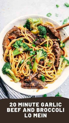 20 Minute Garlic Beef and Broccoli Lo Mein Recipe -&; 20 Minute Garlic Beef and Broccoli Lo Mein Recipe -&; Melica Katarina katarinamelica Asian foods 20 Minute Garlic Beef and […] and broccoli carrots Asian Recipes, Beef Recipes, Cooking Recipes, Healthy Recipes, Detox Recipes, Healthy Lo Mein Recipe, Beef Lo Mein Recipe Easy, Best Lo Mein Recipe, Healthy Food