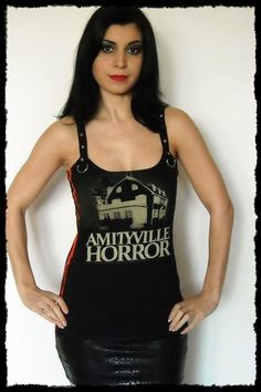 Amityville Horror shirt tank top halloween gothic clothing alternative fashion reconstructed