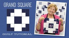 Click here for supplies: http://bit.ly/GrandSquare_yt Jenny demonstrates how to make the quick and easy Grand Square block using 5 inch squares of precut fab...