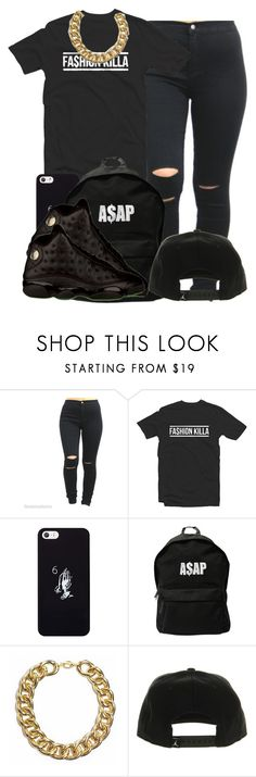 """""""All black everything"""" by eirinimaria ❤ liked on Polyvore featuring October's Very Own, ASAP and NIKE"""