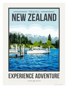 Travel Poster Newzealand Posters by Brooke Witt - AllPosters.co.uk