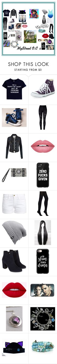 """""""MyStreet O.C"""" by cieradumond ❤ liked on Polyvore featuring Clinical Care Skin Solutions, WithChic, LE3NO, Forever 21, Hot Topic, Casetify, Victoria's Secret, Frame, Wolford and The North Face"""