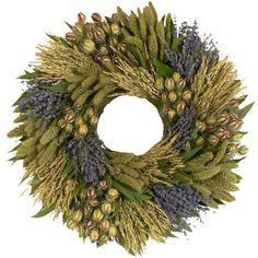I pinned this Organic Vida Wreath from the Seasonal Kitchen event at Joss and Main! Green Wreath, Floral Wreath, Diy Wreath, Burlap Wreath, Lavender Decor, Faux Flowers, Summer Wreath, Christmas Wreaths, Organic