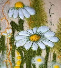 Different kind of felting project than I usually am looking for, yet I like the stitching and beading displayed on this one.