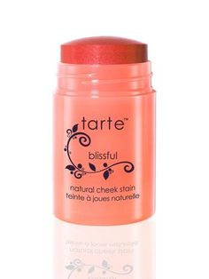 Tarte Cheek Stain in Blissful. A gorgeous, healthy peach color. This doesn't cause me breakouts. Very gentle.
