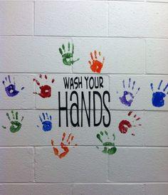 School Nurse Office Decorations Wash Your Hands School Hallways, School Murals, Art School, School Stuff, School Nurse Office, School Nursing, Nurse Bulletin Board, Bulletin Boards, School Secretary