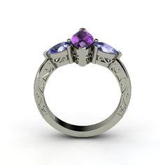 The Summit Ring #customizable #jewelry #amethyst #tanzanite #gold #ring