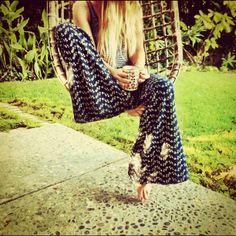 Wide leg causal trousers / pants - Social Wardrobe: 15 Bohemian Looks