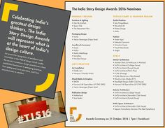 Come celebrate with us The India Story Design Awards on 21st OCT, 2016 7PM onwards @ Swabhumi Kolkata