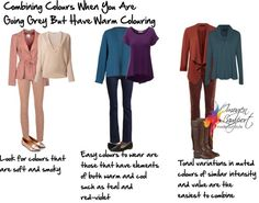 Choosing Colours When You Have Grey Hair But a Warm Skin Undertone - Inside Out Style