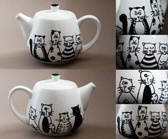 Teapots Cats and friends on Behance