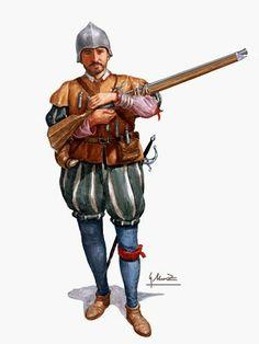 """1500 : 1599 """"Arcabucero de los Tercios, siglo XVI"""", Gonzalo Moreno"""
