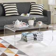 Clear Acrylic Coffee Table   Free Shipping Today   Overstock.com   15707281  Clear Coffee