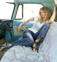Image result for taylor swift photoshoot in a pickup truck