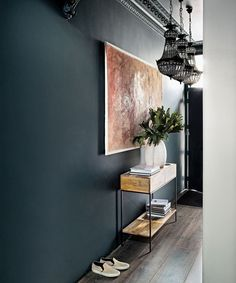 Looking for grey hallway ideas? Grey hallway room designs, furniture and accessories that prove the cooling colour is the scheme for you Dark Grey Hallway, Modern Hallway, Long Hallway, Small Hallway Decorating, Decorating Ideas, Decorating Websites, Decor Ideas, Hallway Paint Colors, Hallway Ideas Entrance Narrow