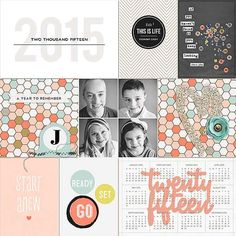 Twenty Fifteen Project Life title page by FarrahJobling using This New Year '15 by Sahlin Studio (& Memory Pocket Monthly Subscription | Folio)