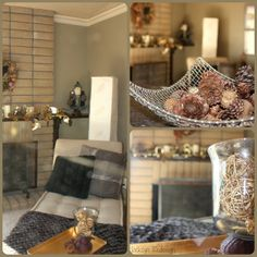 Decorating For The Rest Of The Winter - love her gray and cream color scheme.  elegance.