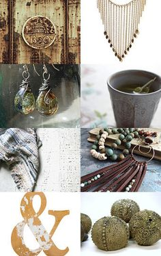 Earthy Textures  by Korinne on Etsy--Pinned with TreasuryPin.com