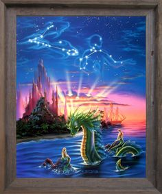 Add a beautiful museum quality art reproduction of underwater mermaid and Ocean Dragon fantasy delight art print framed poster in your home. Its wooden barnwood frame accentuates the poster mild tone. The frame is made from solid wood measuring 19x23 inches with a smooth gesso finish. This framed poster includes a wire hanger on the back for easy display. Impact posters gallery also offers high quality framed posters which are perfect for decorators on a budget. Hurry up! Make your order…