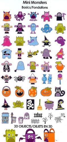 Cricut Mini Monsters Cartridge - monster mash party