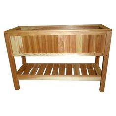 Cedar Creek Raised 52 In. Garden Container with Shelf