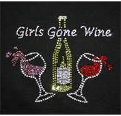"""Everything Wine Rhinestone T Shirt; mine shows 3 glasses and says """"Group Therapy.""""  Giggle."""
