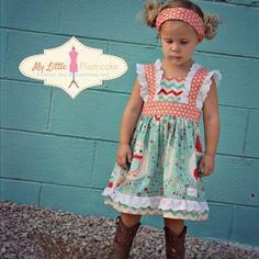 Girl Dress & Capri PDF Pattern  The Hope by MyLittlePlumcake