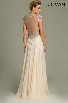 Jovani 78235 // art deco great gatsby wedding dress