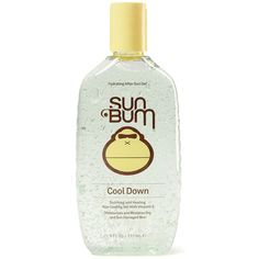 "Sun Bum Cool Down After Sun hydrating gel. So you got greedy and burned your skin. Ease the pain and calm your skin with ""Cool Down"" Gel. Vitamin E enriched, so..."