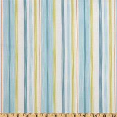 Annette Tatum Bohemian Crayon Stripe Teal