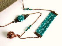 Bola de grossesse cuivre et vert émeraude : une création originale de Color-life-bijoux sur DaWanda.com