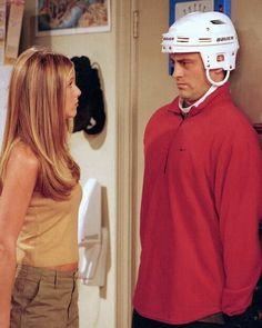 Friends. Rachel/Jennifer Aniston with perfect hair