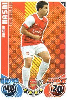 2010-11 Topps Premier League Match Attax #11 Samir Nasri Front