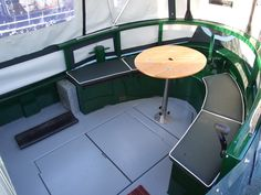 Cruiser stern - chrisden Canal Boat Interior, Barge Interior, Liveaboard Boats, Canal Barge, Narrowboat Interiors, Dutch Barge, Living On A Boat, Mobile Living, Boat Projects