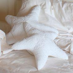 chenille starfish pillows
