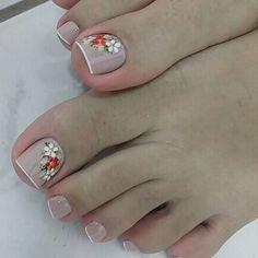 Cute Toe Nails, Cute Toes, Toe Nail Art, Pedicure Designs, Toe Nail Designs, Trendy Nail Art, Manicure And Pedicure, Nail Arts, Nail Tech