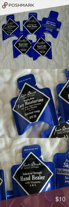 Jack Black men's face products skincare lot 5 pieces... All new Face moisturizer  Hand healer Skin serum 2 beard lubes  Bundle to save on shipping Jack Black  Other