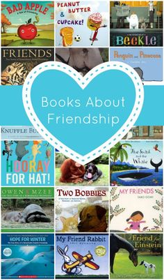 Books about friendship~Includes different examples of how we can help, encourage, make and keep friends.