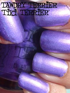 "@TawdryTerrier ""Tiki Terrier"" in the sun - 2 bottles available at https://www.etsy.com/shop/TawdryTerrier #indienailpolish #nailpolish #tawdryterrier"