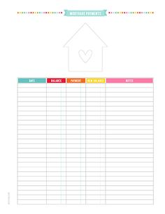Monthly Budget Printable Pdf Planner Page Instant By Misstiina