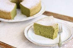 Green Cilantro: Green Tea (Matcha) Chiffon Cake