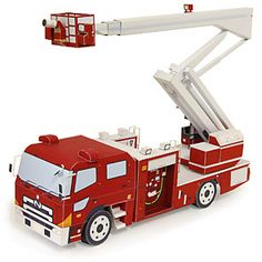 Articulated Ladder Truck - Vehicles - Paper CraftCanon CREATIVE PARK. More great stuff on this page