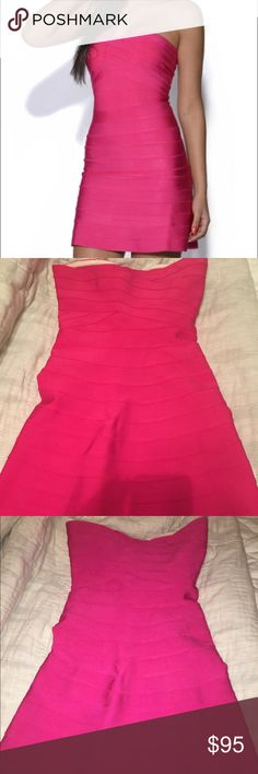 Pink Strapless Bandage Dress MEDIUM V-DAY Perfect! Perfect for Valentine's Day! NWOT Bandage collection dress Strapless with flare bottom. Never worn BRAND NEW. It is too tight in my boobs to wear. Paid $185 plus tax and shipping. Unfortunately I just can't make it work. Bandage style dress so very thick, good quality, and they are always a little more$ it just sold out on USTrendy.com for $170! Willing to let this go for way less or else it will just be sitting in my closet. My loss, your…